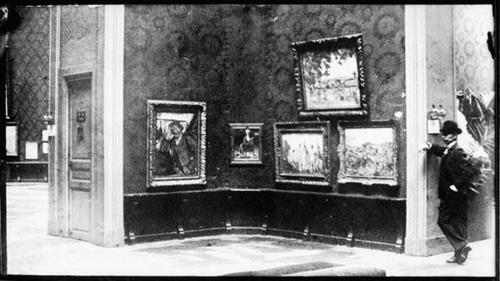 Salon d'automne au petit palais en 1904. Vollard - Cézanne. Diaghilev.