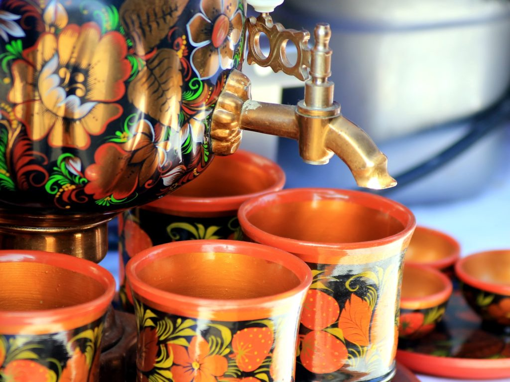 thé russe et samovar