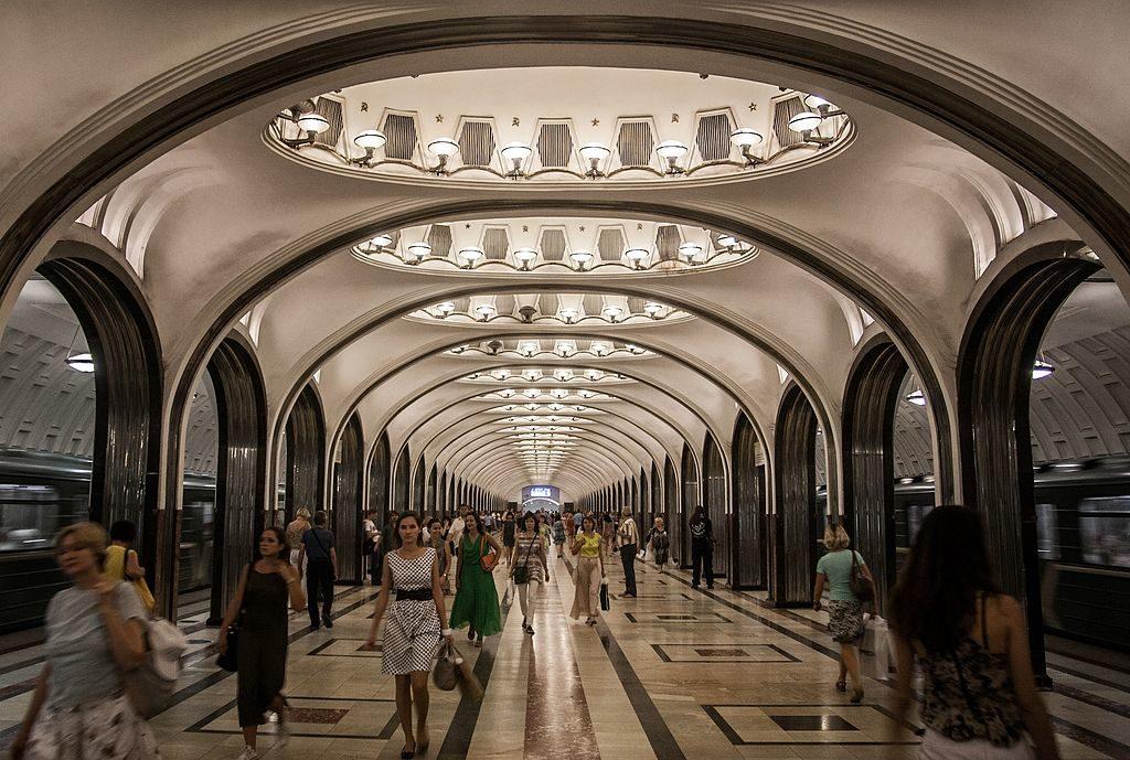 mayakovskaya metro station moscou